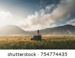 travel concept of a journey to... | Shutterstock . vector #754774435