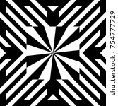 illusive tile with black white... | Shutterstock .eps vector #754777729