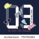 college number and patches... | Shutterstock .eps vector #754781881