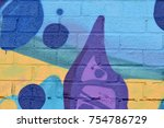abstract spray paint texture... | Shutterstock . vector #754786729