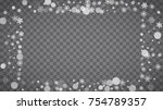 winter frame with white... | Shutterstock .eps vector #754789357