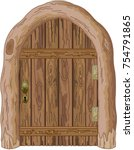 illustration of a wooden barn... | Shutterstock .eps vector #754791865