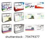 set of shopping bag isolated on ...   Shutterstock .eps vector #75479377