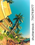 low angle view of tropical... | Shutterstock . vector #754793977