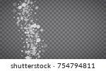 blizzard snowflakes on... | Shutterstock .eps vector #754794811