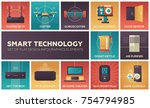 smart technology   set of flat... | Shutterstock .eps vector #754794985