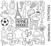 france country traditional... | Shutterstock .eps vector #754795561