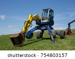 agrimachines on meadow | Shutterstock . vector #754803157