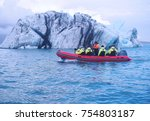 editorial shot of tourists on... | Shutterstock . vector #754803187