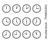 set of wall clocks for every... | Shutterstock .eps vector #754803301