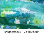 detail of the painting as a... | Shutterstock . vector #754805284