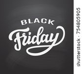 black friday typography... | Shutterstock .eps vector #754805905