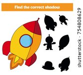 shadow matching game for... | Shutterstock .eps vector #754808629