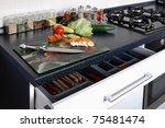 kitchen and vegetables   Shutterstock . vector #75481474