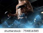 sport  bodybuilding  fitness... | Shutterstock . vector #754816585