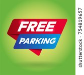 free parking arrow tag sign. | Shutterstock .eps vector #754819657
