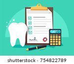 dental insurance  dental care... | Shutterstock .eps vector #754822789