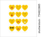 emoticon vector design template | Shutterstock .eps vector #754822885