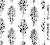 black and white seamless... | Shutterstock .eps vector #754822891