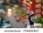 antenna receivers with blurred... | Shutterstock . vector #754830967