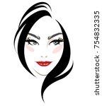 illustration of women hair...   Shutterstock .eps vector #754832335