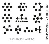 human relations simple charts.... | Shutterstock .eps vector #754833109