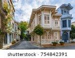buyukada island street view.... | Shutterstock . vector #754842391