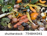 inside of a composting container | Shutterstock . vector #754844341