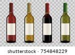 realistic vector 3d set of... | Shutterstock .eps vector #754848229