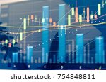 forex market background ...   Shutterstock . vector #754848811