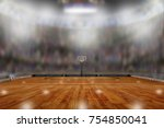 low angle view of basketball... | Shutterstock . vector #754850041