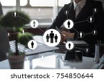 human resource management  hr ... | Shutterstock . vector #754850644