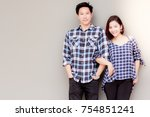 portrait charming couple  an... | Shutterstock . vector #754851241