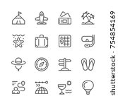 set line icons of travel | Shutterstock .eps vector #754854169
