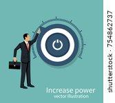 more power. business... | Shutterstock .eps vector #754862737