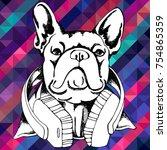 french bulldog. vector...   Shutterstock .eps vector #754865359