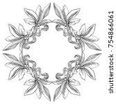 laurel wreath. vector...   Shutterstock .eps vector #754866061