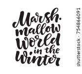 vector holidays lettering.... | Shutterstock .eps vector #754866091