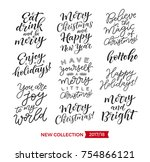 vector set of holidays... | Shutterstock .eps vector #754866121