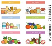 food and drink nutrition groups ... | Shutterstock .eps vector #754866811