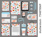 corporate identity template set.... | Shutterstock .eps vector #754870069