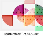 circle elements on black... | Shutterstock .eps vector #754873309