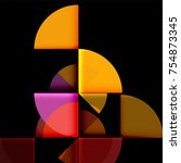 circle elements on black... | Shutterstock .eps vector #754873345