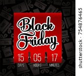abstract vector black friday... | Shutterstock .eps vector #754876465