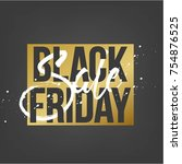 abstract vector black friday... | Shutterstock .eps vector #754876525