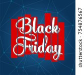abstract vector black friday... | Shutterstock .eps vector #754876567
