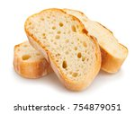 sliced baguette bread path... | Shutterstock . vector #754879051