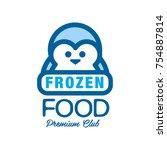 frozen food premium club  label ... | Shutterstock .eps vector #754887814