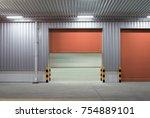 shutter door or roller door and ... | Shutterstock . vector #754889101