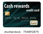 a cash rewards credit card is... | Shutterstock . vector #754892875